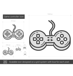 Game controller line icon vector