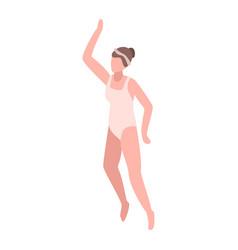 girl swimmer icon isometric style vector image