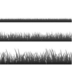 Grass meadow border pattern spring or vector