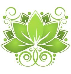 Green lotos vector image