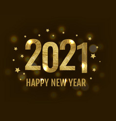 happy new year card with text vector image