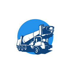 heavy construction truck logo concept vector image