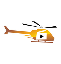 helicopter motion aerial video production vector image