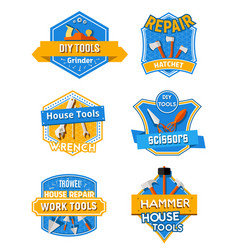 home repair construction work tools icons vector image vector image