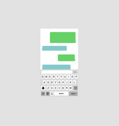 keyboard with chat bubbles vector image