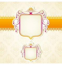 Lace Ribbon on Retro Background vector image
