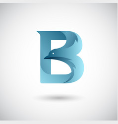 letter b with dove logo template creative and vector image
