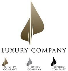 luxury business emblem vector image