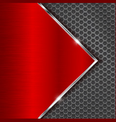 Metal red background with perforation vector