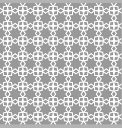 monochrome arabic seamless pattern oriental vector image