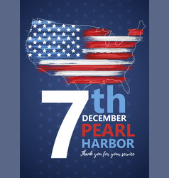 Pearl harbor hawaii remembrance day vector