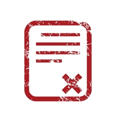 Red grunge no document logo vector
