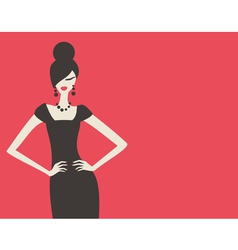 retro fashion model vector image