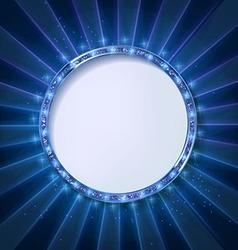 Round frame cinema vector