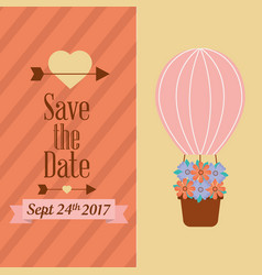 save the date banners love romantic event vector image