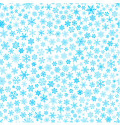 seamless pattern of snowflakes light blue on white vector image