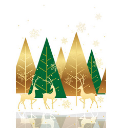 seamless winter forest background vector image