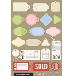 Set 20 different tags vector