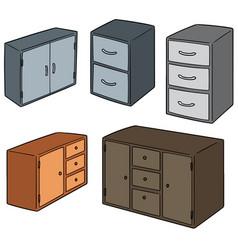 Set of drawer vector