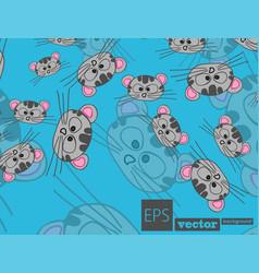 Stylish cats pattern vector