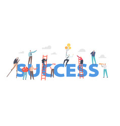 Success concept businesspeople characters vector