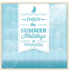 Summer holiday card design vector image