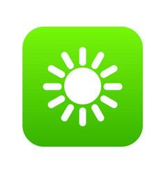 sun icon digital green vector image