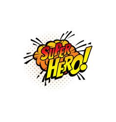 Super hero pop art comic halftone cloud or bubble vector