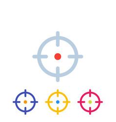 Target aim crosshair icons vector