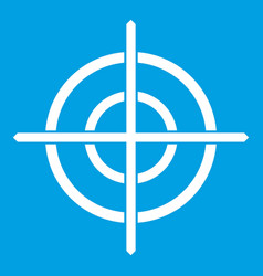 Target crosshair icon white vector