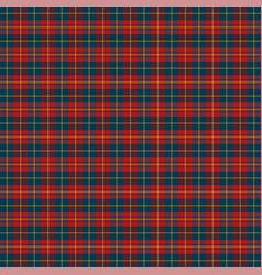 tartan plaid pattern scottish cage vector image