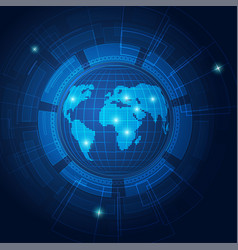 techno earth vector image