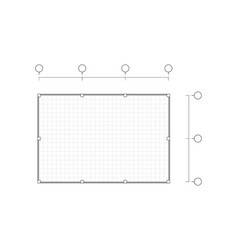 Top view black and white outline drawing blank vector