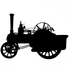 traction engine vector image