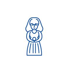 virgo zodiac sign line icon concept virgo zodiac vector image