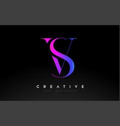 Vs sv letter design logo logotype icon concept vector