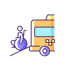 Wheelchair van rgb color icon vector