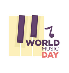 World music day isolated icon musical vector