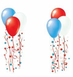 American patriotic balloons vector image