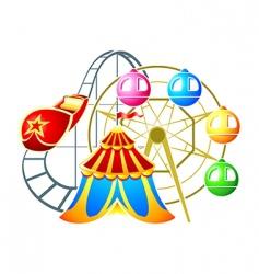 amusement park symbol vector image vector image
