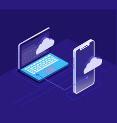 cloud computing concept vector image