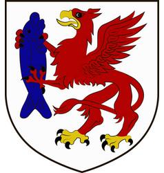 coat of arms of szczecinek in west pomeranian vector image