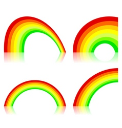 icon a rainbow vector image