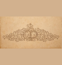 paper cardboard with vintage ornament vector image vector image