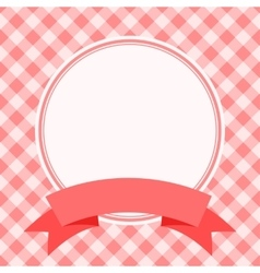 red frame for invitation card vector image