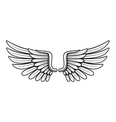 vintage wings 3 vector image vector image