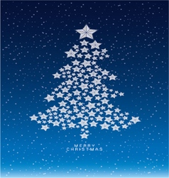 Christmas and new years snow background with star vector image