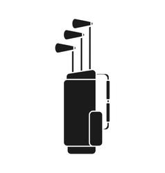 Clubs inside bag of golf sport design vector image