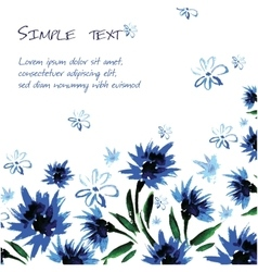 Floral background with space for text watercolor vector image