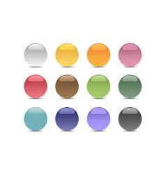 group of bubbles of different colors vector image